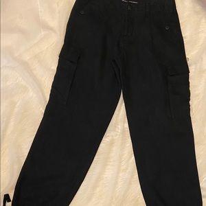 Ralph Lauren Blue Label Black Linen Cargo Pants